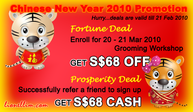 Chinese New Year Promotion For Grooming Workshop