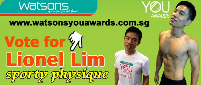 Watsons YOU Awards 2010 Sporty Physique – Vote for Lionel