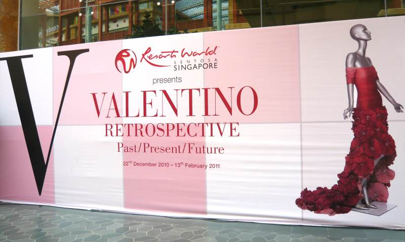 Valentino Retrospective – Past Present Future Exhibition At Resorts World Singapore