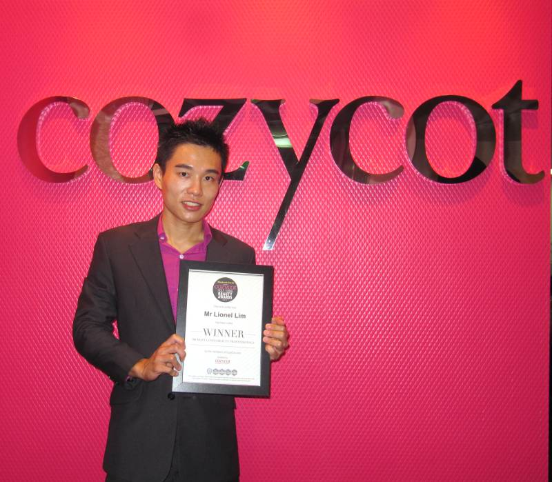 Singapore's 100 Most Loved Beauty Professionals Award By Cozycot