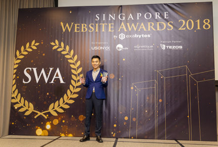 Lionel Lim Celebrates Twin Wins At The Singapore Website Awards 2018